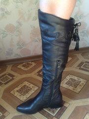 Обалденные кожаные новые сапожки, еврозима!