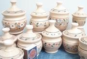 посуда из керамики в украинском стиле