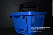 Покупательская корзинка синяя. Корзинки покупателя пластиковые магазин