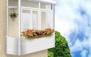 Металлопластиковые балконы остекление