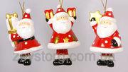 Подвеска-колокольчик Санта,  10см