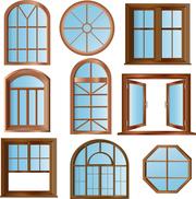 Нестандартные окна,  эркерные,  арочные,  треугольные,  трапециевидные.