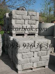 Блок бетонный для забора