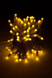 Уличная светодиодная гирлянда нить 10 м желтая