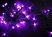 Уличная светодиодная гирлянда нить 5м фиолетовый