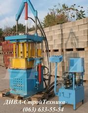 Вибропресс гидравлический для производства блоков