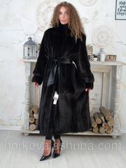 Женская длинная норковая шуба классика 52 54 56 размеры