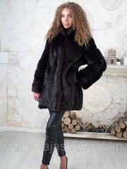 Красивая норковая шуба полушубок махаон 46 48 размеры распродажа