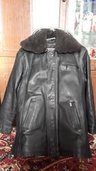 Мужская кожаная куртка утепленная