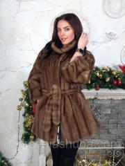 Норковая шуба женская под пояс 46 48 50 52 размеры распродажа