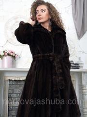 Женская норковая шуба классика под пояс 42 44 размер распродажа
