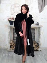 Норковая шуба длинная махаон размер 52 54 56