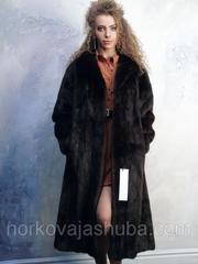 Роскошная шуба из меха норки махаон классика размер 48 50