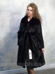Женская шуба норковая под пояс по колено размер 44 46