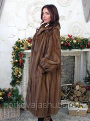 Женская шуба из меха норки классика размер 52 54 56 распродажа