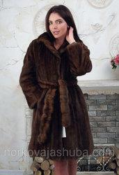 Элегантная шуба из меха норки размер 44 46 купить дешево