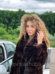 Женская норковая шуба поперечка размер 40 42 44