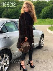 Женская роскошная шуба норковая под пояс размер 46 48