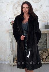Длинная норковая шуба женская размер 48 50 классика