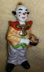 Статуэтка фарфоровая,  Клоун с барабаном,  статуэтка Чехия.